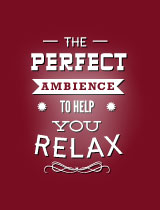 The perfect ambience to help you relax!